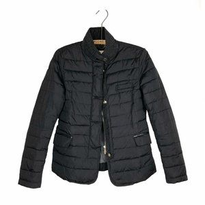 Massimo Dutti Quilted Puffer Jacket Black